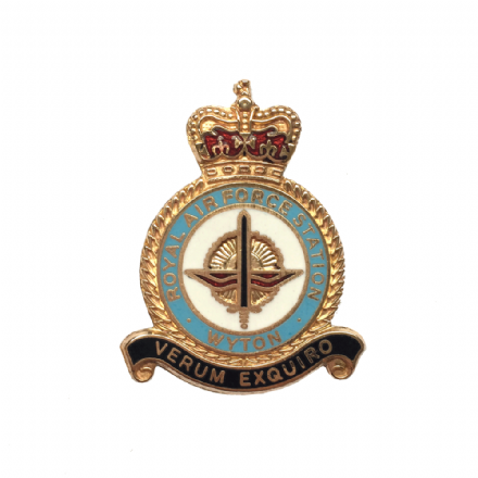 Royal Air Force RAF Station Wyton Lapel Badge